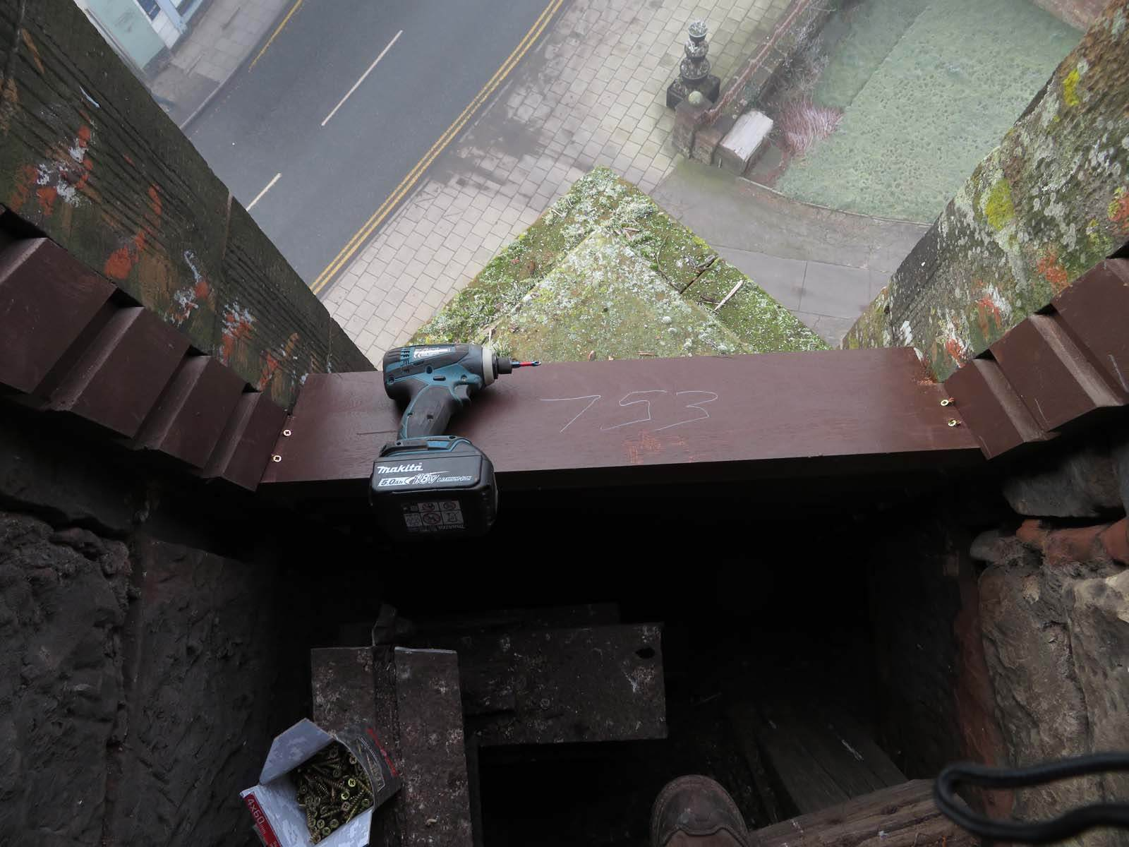 installing sapele hardwood louvres