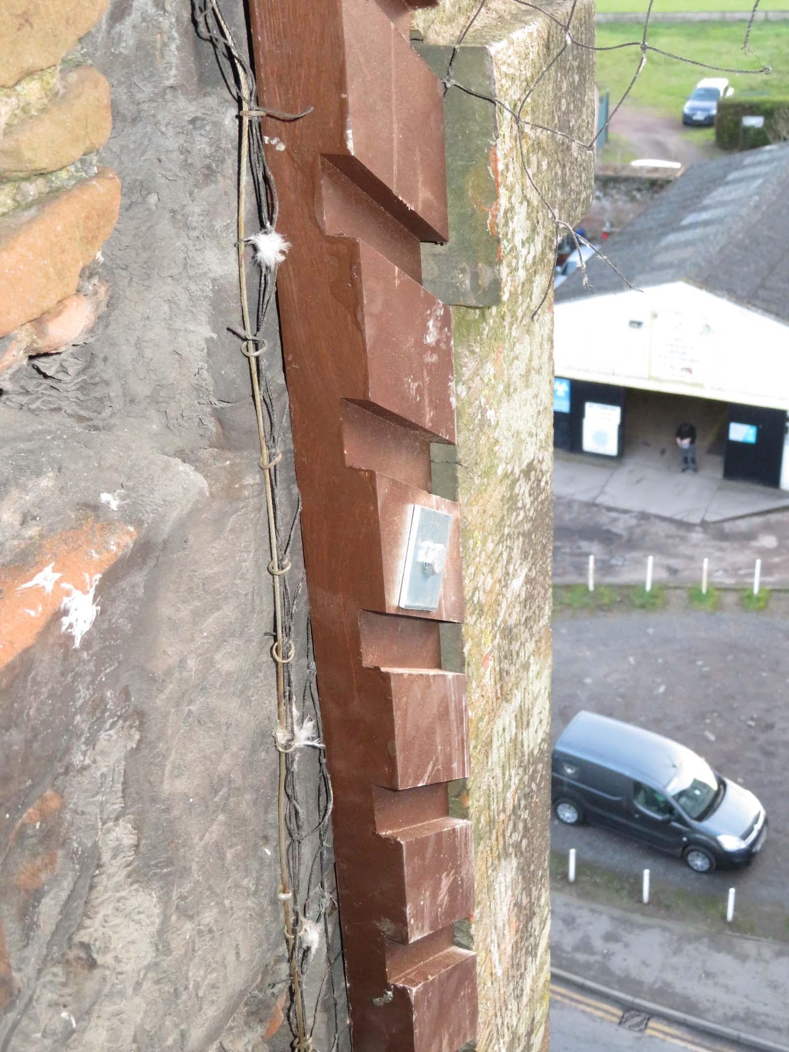new hardwood louvres installation in steeple