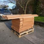 sapele hardwood ready to be turned into new louvre windows