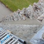 Completed hydraulic lime skew