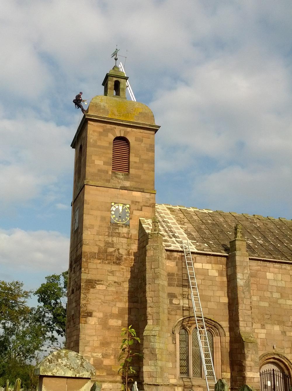 Church steeple inspection