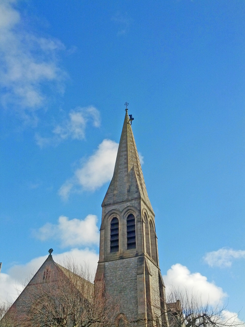 Church spire inspection