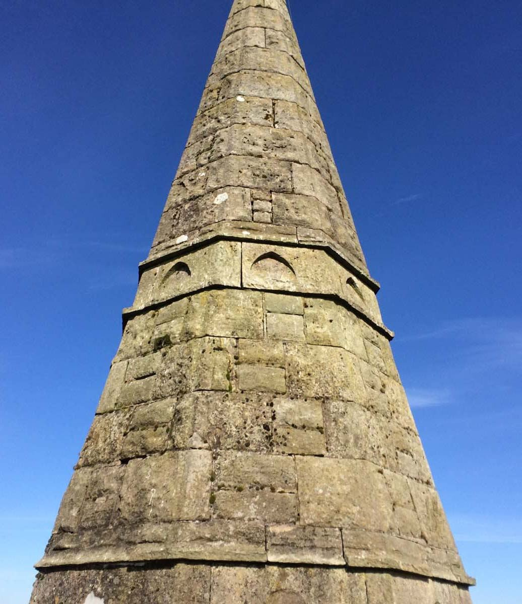 Spire open to the weather and in need of hydraulic lime pointing
