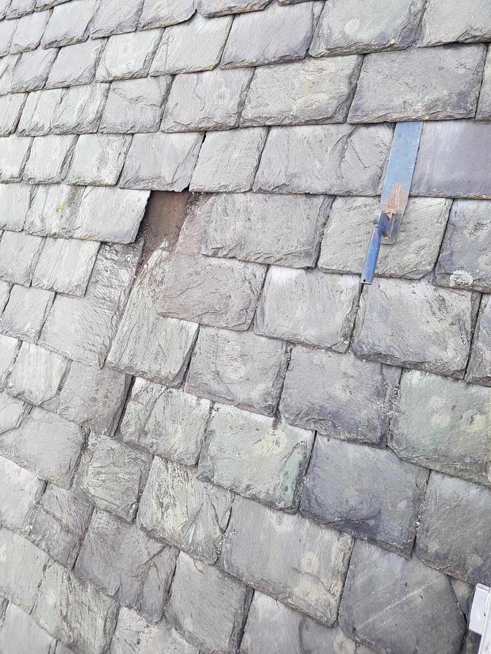 Slate patching